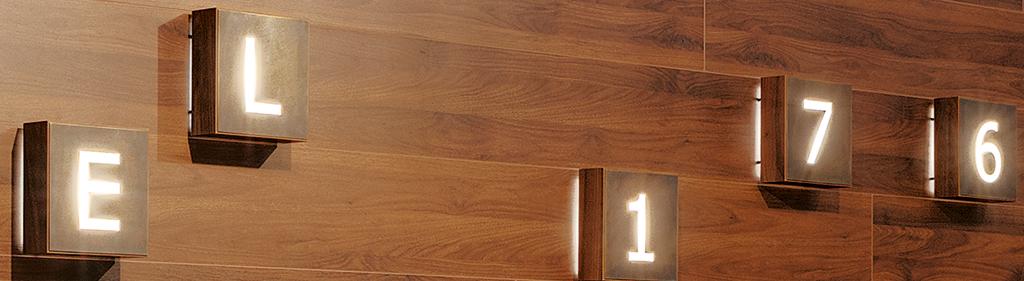 Bachhuber Hoteleinrichtungen - Illuminierte Zahlen an der Wand - Leistungspakete